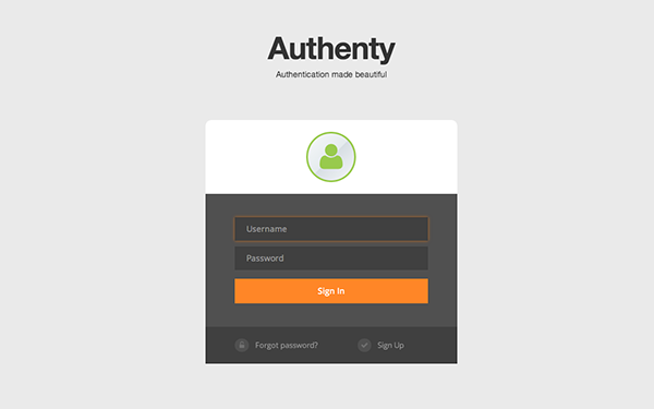 Authenty Login Signup Forms Bootstrap Responsive Themes