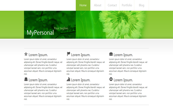 Bootstrap theme MyPersonal - Personal Blog Template