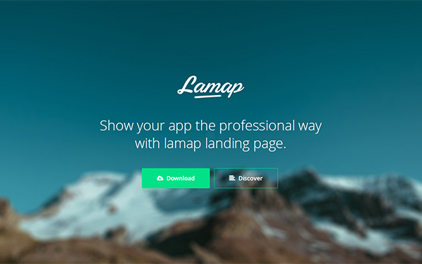 Bootstrap template Lamap App Landing Page