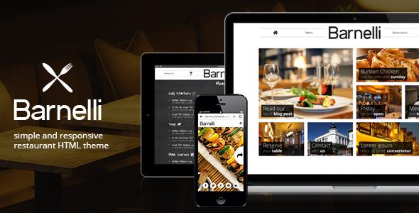 Barnelli Restaurant Html5 Responsive Template