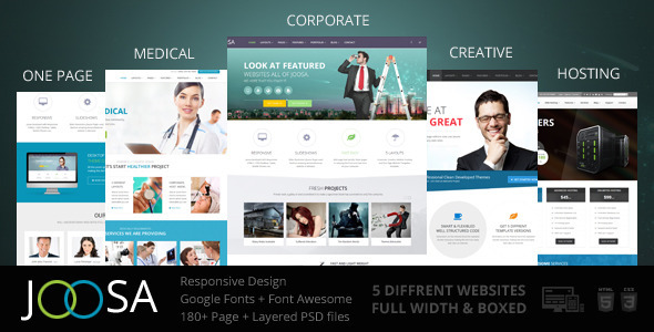 Bootstrap template Joosa - Responsive MultiPurpose HTML5 Template