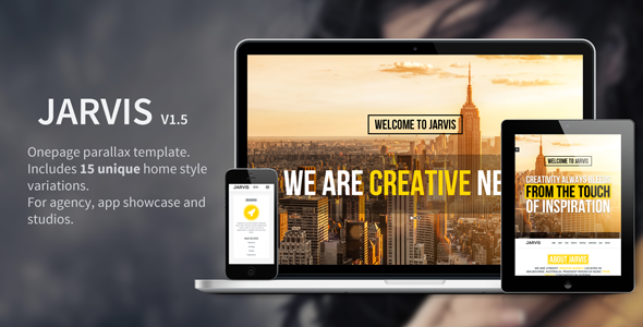 Bootstrap theme  Jarvis - Onepage Parallax Theme