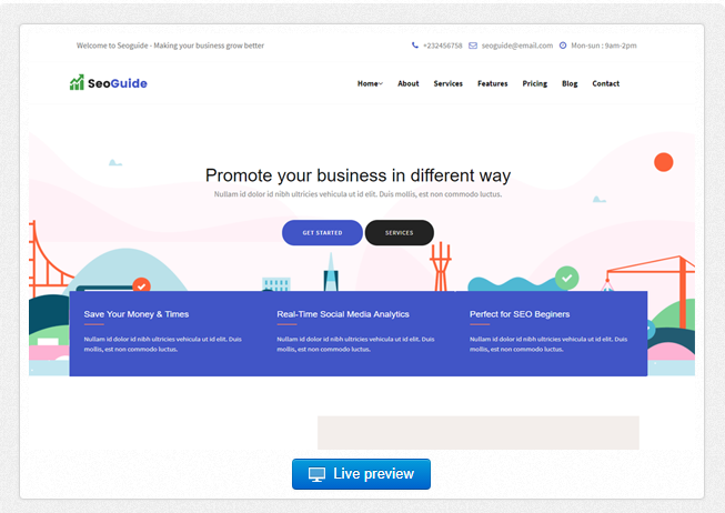 Bootstrap theme Seoguide - Digital Marketing Agency