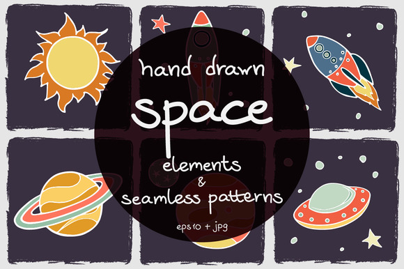 Bootstrap theme Cartoon Space Elements