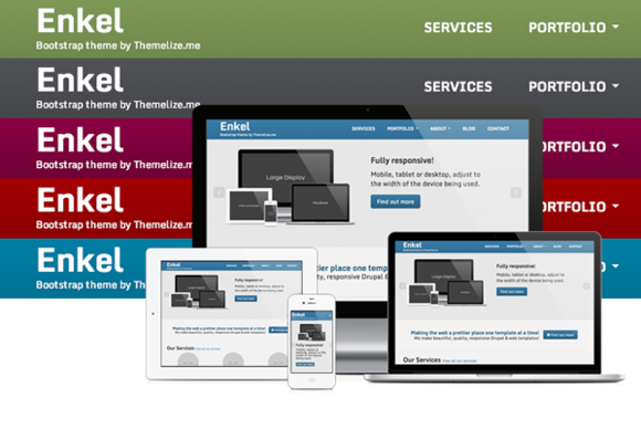 Bootstrap template Enkel Responsive HTML Template