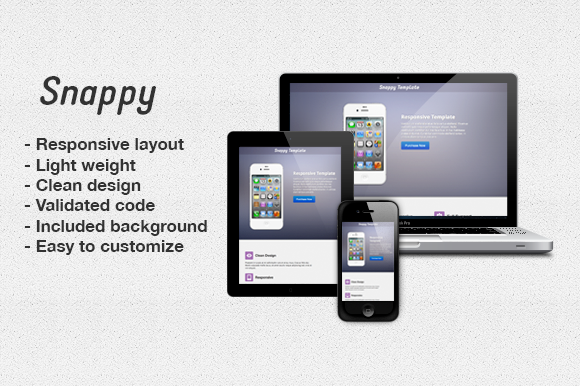 Bootstrap template Snappy - Responsive Landing Page