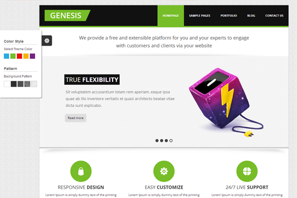 Bootstrap theme Genesis - Business Themes
